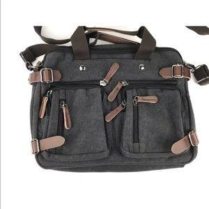 Canvas Briefcase Backpack Laptop Messenger Bag